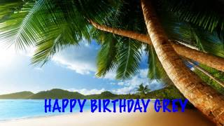 Grey  Beaches Playas - Happy Birthday