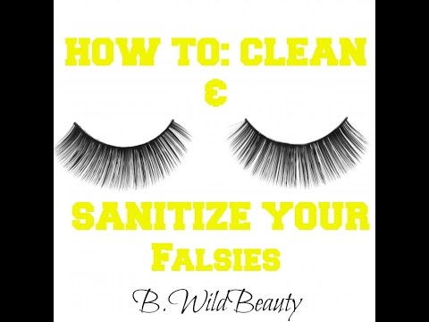 HOW TO: CLEAN FALSE EYELASHES TO REUSE