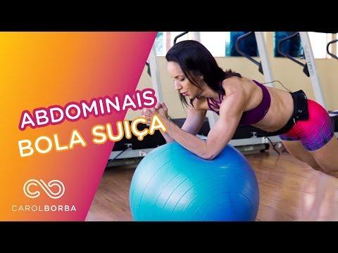 Treino abdômen com Bola Suiça - Carol Borba