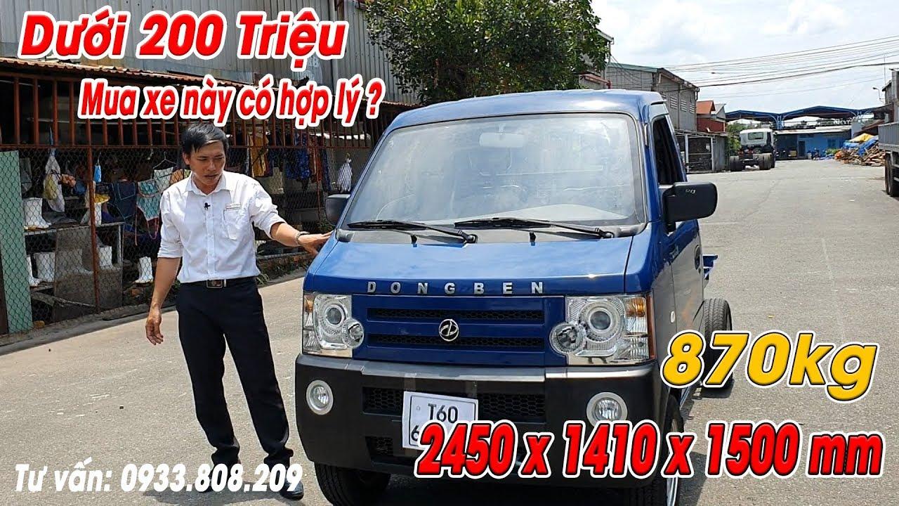 Xe Tải Nhỏ Dongben 870kg ▶ Giá Chassi Chỉ Tầm 157 Triệu 🔴 Đánh giá xe tải