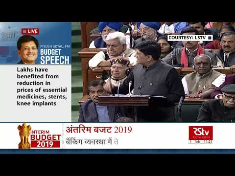 Interim Budget 2019 | FM on Ayushman Bharat and Healthcare Benefits