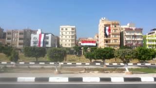 الاسماعيلية تتزين بعلم مصر أستعدادا لافتتاح قناة السويس الجديدة