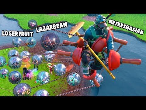 Bunch of Balls in Fortnite ft. Lazarbeam, Fresh & Marcus