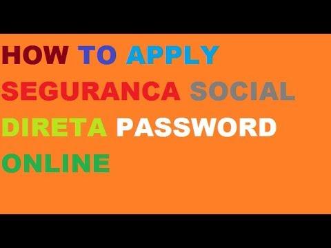 How to apply seguranca social password online