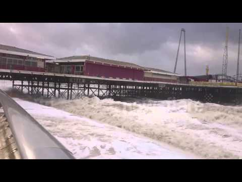 Blackpool seaside flooded in 'weather bomb'