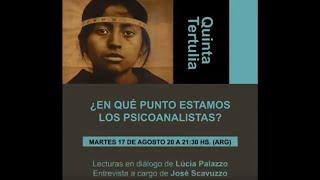 Apresentação da entrevista de Lúcia Palazzo na Tertúlia da Associação Psicanalítica de Córdoba