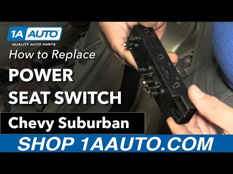 How to Replace Power Seat Switch 07-14 Chevy Suburban
