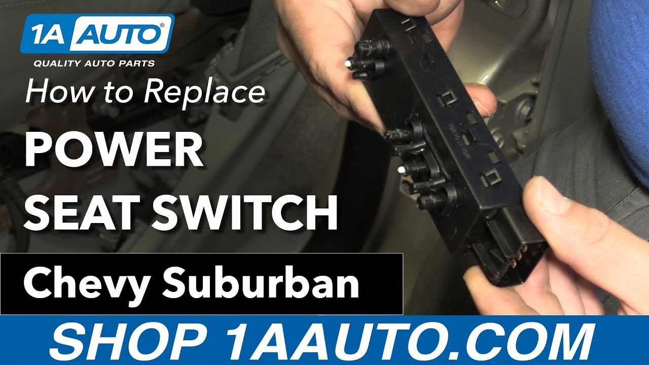 hight resolution of how to replace power seat switch 07 14 chevy suburban