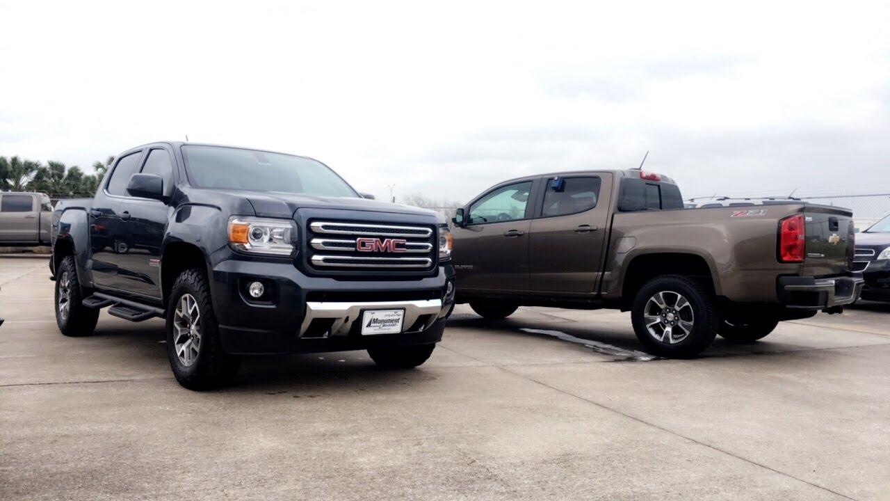 Canyon Vs Colorado >> 2017 Chevrolet Colorado Z71 Vs 2017 Gmc Canyon All Terrain Comparison