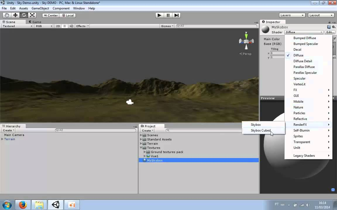 Unity3D Tutorial: How to make Skybox 360 (single texture)