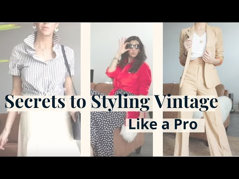 Secrets to Styling Vintage Clothes So You Actually Wear Them | Styling My Vintage Finds