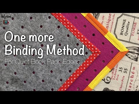 One More Way To Bind Quiet Book Page Edges Tutorial