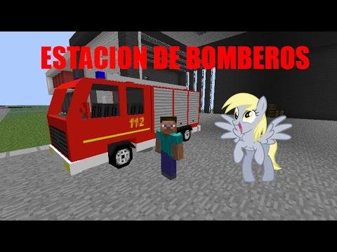 Juanjobelic en minecraft 1 6 4 la estaci n de bomberos y for Casa moderna 6 mirote y blancana