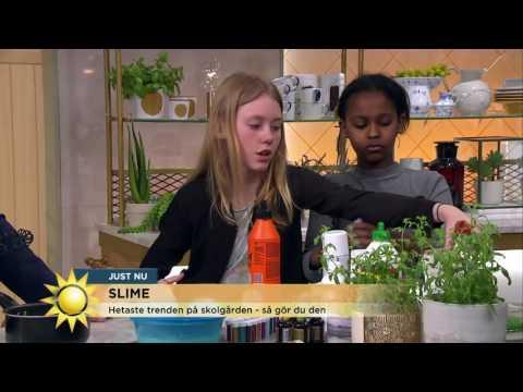 Slimetrenden är här - så gör du din bästa slime - Nyhetsmorgon (TV4)