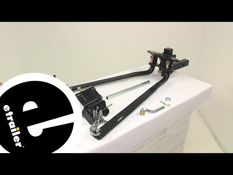 weight distribution hitch hookup