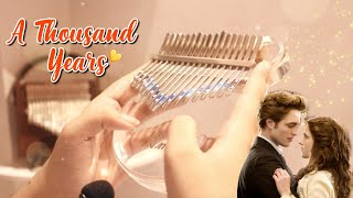 Download lagu Christina Perri - A Thousand Years (Twilight OST) | Kalimba Cover with Tabs ♡