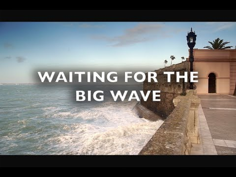 Waiting for the Big Wave Cadiz Spain Royalty Free Footage