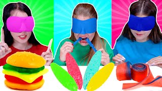 ASMR Candy Race with Closed Eyes and a New Girl!   Eating Sounds LiLiBu