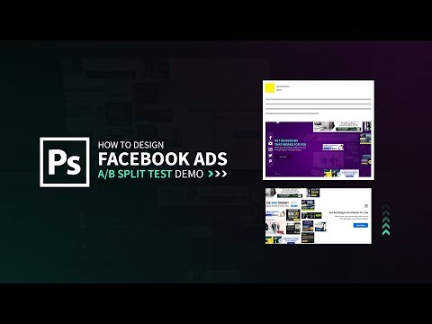 Facebook Ad Design (A/B split test) - Adobe Photoshop CC Tutorial