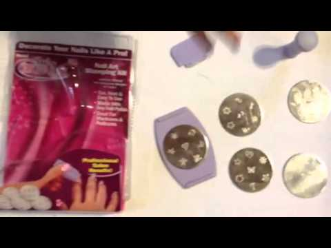 How To Use The Salon Express Nail Art Stamping Kit Youtube
