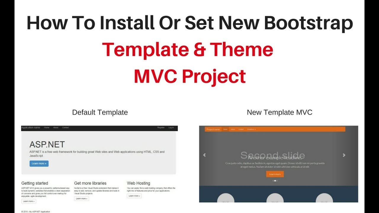 install asp net mvc site layout with bootstrap bundle template theme