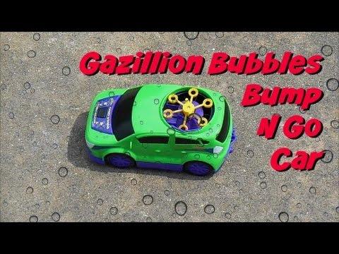 Gazillion Bubbles Bump N Go Bubble Car Demonstration