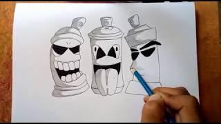Download Video Membuat Graffiti Karakter Spray Pilox Mudah Di Tiru MP3 3GP MP4