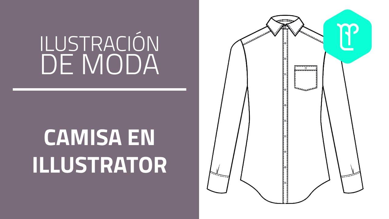 Cómo dibujar una camisa en illustrator - YouTube
