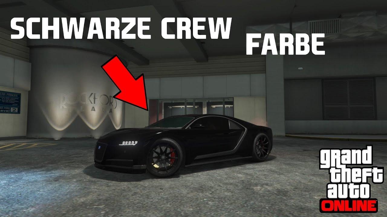 Gta 5 Online Schwarze Crew Farbe Deutsch German Youtube