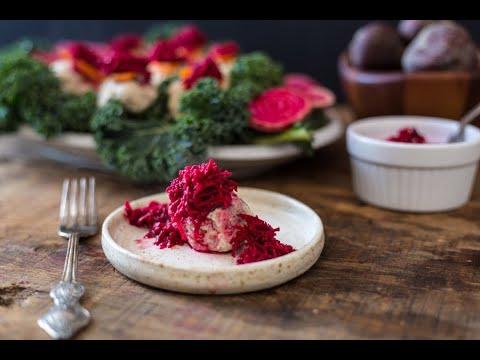 Traditional Polish Gefilte Fish With Beet Chrein