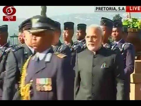 PM Modi arrives in Pretoria, South Africa