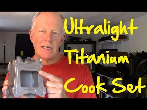 Tomshoo Ultralight Titanium Cook Set