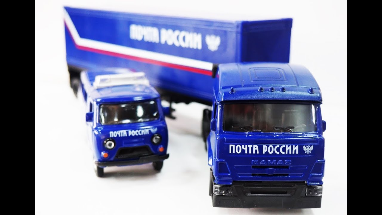 Модельки УАЗ-452 «Буханка» и Грузовик КАМАЗ с прицепом от ...