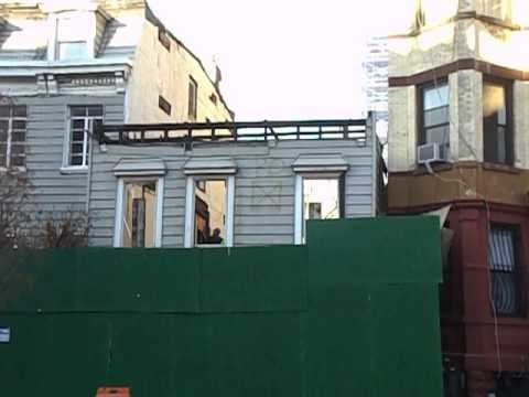 Demolition of 495 Dean Street, Nov. 24, 2015, for Atlantic Yards/Pacific Park