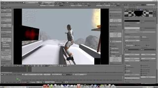 Game engine, blender 3d;  premiere création  jeux sans ligne de code