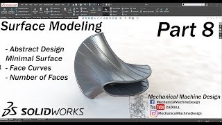 Learning SolidWorks Surface Modeling Part 8 - Minimal Surface