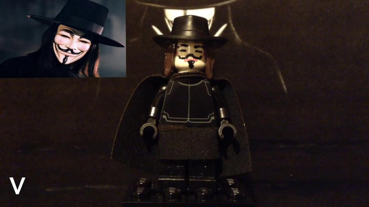 Custom Lego V For Vendetta V Minifigure Showcase Youtube