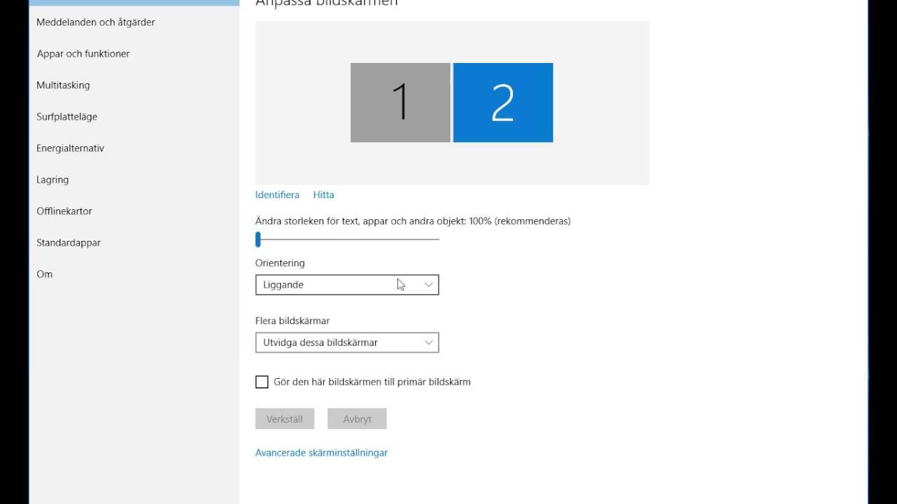 ansluta flera bildskärmar till Surface Pro 3
