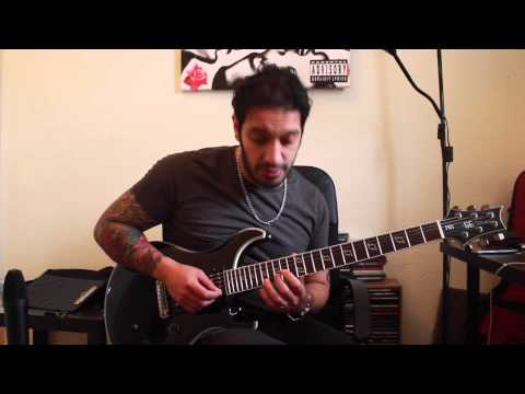 How to play 'Mile Zero' by Periphery Guitar Solo Lesson w/tabs