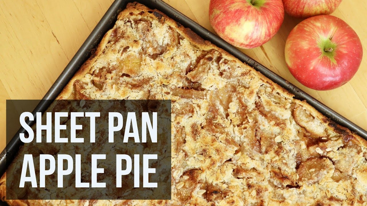 Sheet Pan Apple Pie Easy Dessert Recipe By Forkly Youtube