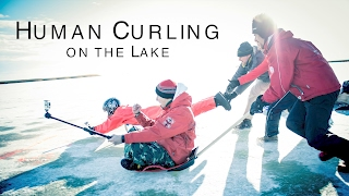 Human Curling on the Lake