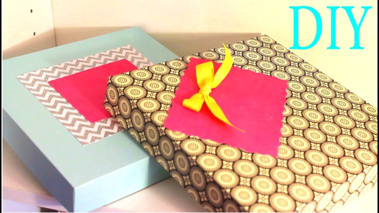 Cajas para regalos gift boxes scrapbook paper youtube - Cosas hechas a mano para vender ...