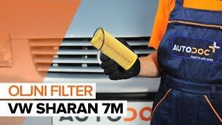 Kako zamenjati motorno olje in oljni filter naVW SHARAN 7M [VODIČ]