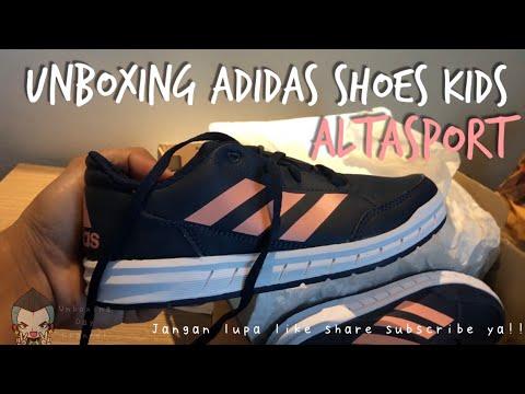 Unboxing Sepatu Anak Adidas AltaSport K Blue Navy | Unboxing Shoes Kids Adidas Altasport K