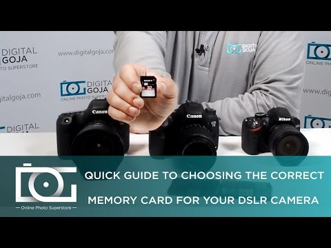 DSLR MEMORY CARD | Quick Guide to Choosing the Correct Memory Card for Your DSLR Camera