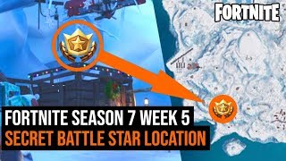Fortnite Season 7 Week 5 SECRET Battle Star Location