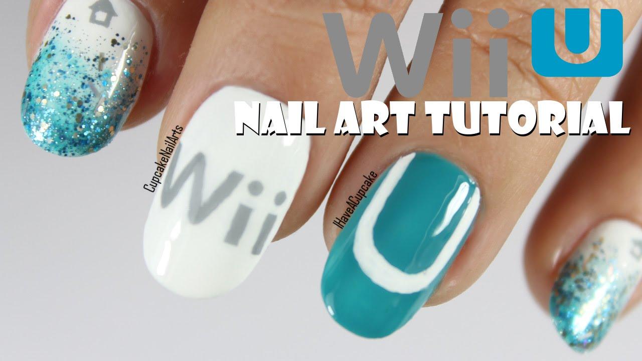 Nintendo Nail Art Tutorial - Wii U Nails - YouTube