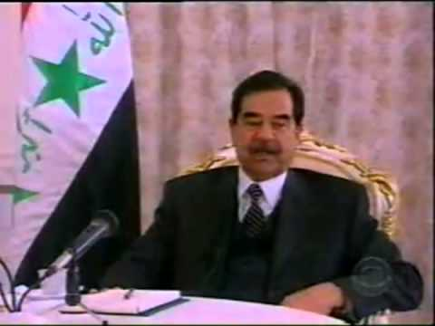 1a Dan Rather & Saddam Hussein Interview