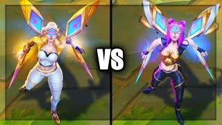 Prestige Edition Kai'Sa vs K/DA Kai'Sa Popstar Skins Comparison (League of Legends)