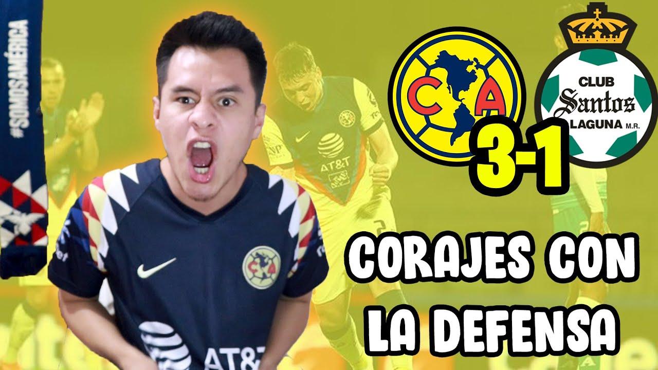 ¡GOLES Y CORAJES! AMÉRICA 3-1 SANTOS Guard1anes 2020
